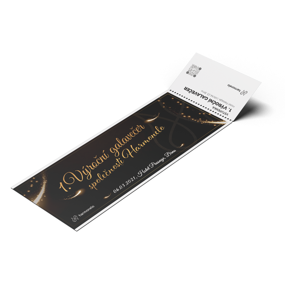 Ticket for the 1st HARMONELO annual gala evening March 6, 2021 - Category A
